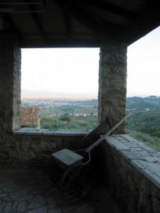 S.Maria a Colle, panorama dal loggiato