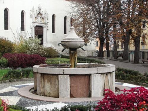 Belluno - Nel giardino della chiesa...