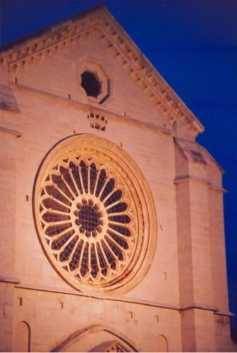 Priverno - La cattedrale al tramonto