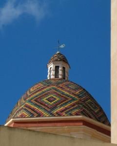 Alghero, cupola della chiesa di San Michele
