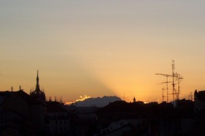 il Duomo e il Monte Rosa da casa mia