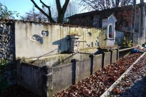 fontana, lavatoio, capitello a Dussano