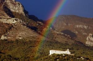 Arcobaleno al Convento del SS. Salvatore