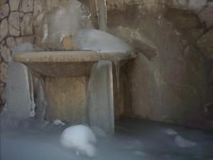 Fontana ghiacciata a Pozzaglia Sabina (RI)