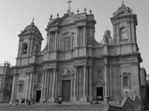Cattedrale di Noto in B&W