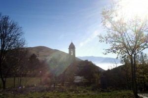 Controluce della chiesa Madonna del Lago