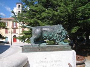 Fontana I quatro leoni particolare
