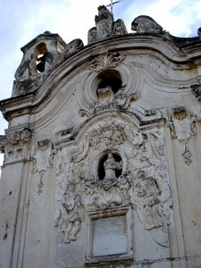 Chiesa di San Vito, Ercolano, particolare della facciata