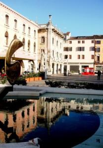 fontana in piazza ferretto Mestre