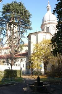 Fontana e  Chiesa Parrocchiale della Beata Vergine Assunta