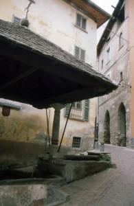 Caratteristica fontana a Grosotto