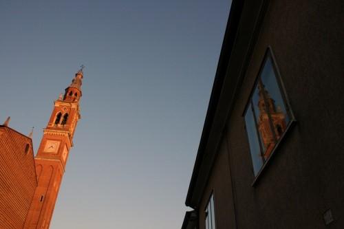 Castelbaldo - Riflessi del campanile di Castelbaldo