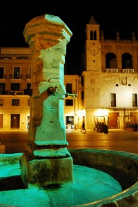 La Fontana di Piazza Mercantile by night