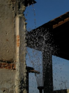 Particolare fontana di Cavaglio