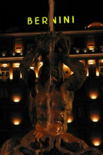 Roma - I due Bernini in notturna