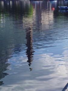 Riflessi nel lago della basilica di S.Nicolò