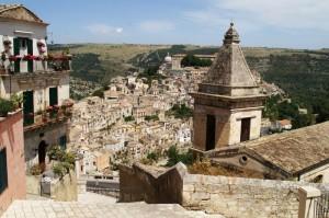 Ragusa Ibla - Veduta con Santa Maria delle Scale