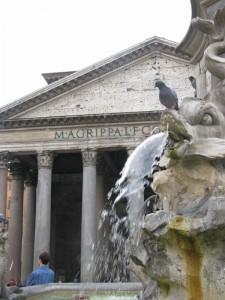 Fontana davanti Il Panteon