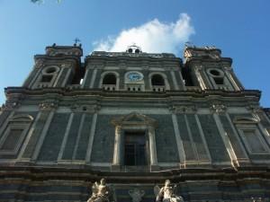 Adrano - Chiesa di Santa Lucia, i due ordini superiori