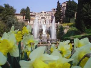 Una bella fontana in Villa d'Este