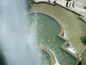 fontana dall'alto