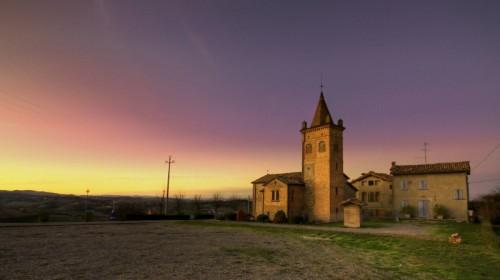 Marano sul Panaro - Chiesa di Villabianca - Tramonto