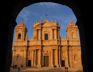 Cattedrale di Noto al tramonto