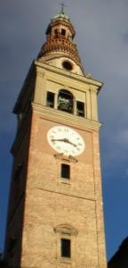 Particolare del campanile - Chiesa Parrocchiale di Ghemme