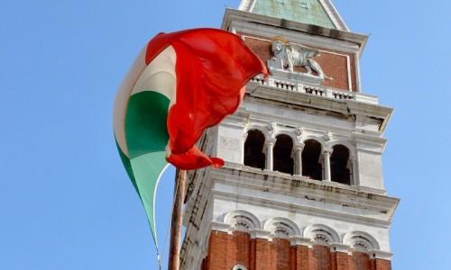 Venezia - Il Campanile e il Tricolore