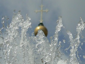 l'acqua santa…
