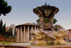 Fontana dei tritoni con il suo tempio