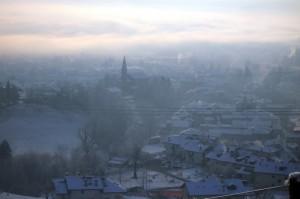 Mattino invernale a Pedavena