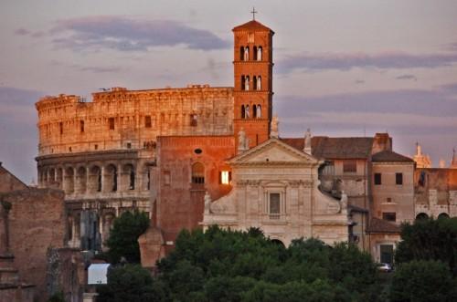 Roma - SANTA FRANCESCA ROMANA + COLOSSEO + TRAMONTO SUI FORI