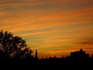 Profilo al tramonto