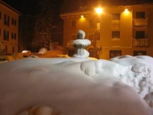 """""""il nevone"""" e la fontana"""