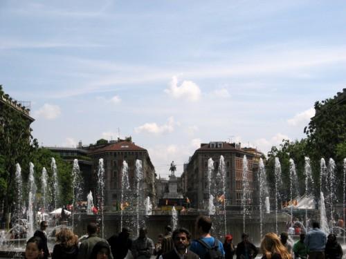 Milano - una delle poche fontane a Milano