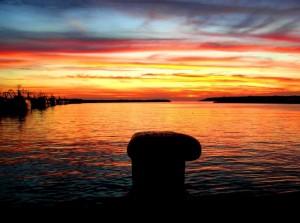 Che tramonto…..