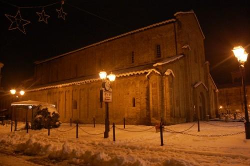Acqui Terme - Basilica dell'Addolorata  dopo la nevicata