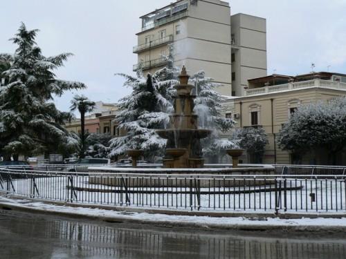 San Severo - Fontana innevata