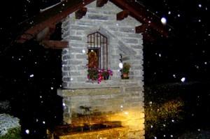 fontana all'ingresso di vergano