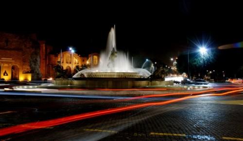 Roma - Fontana delle Naiadi Piazza della Repubblica la notte