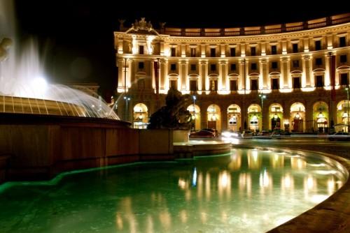 Roma - Fontana delle Naiadi Piazza della Repubblica la notte II