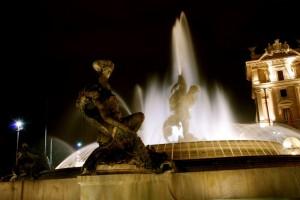Fontana delle Naiadi Piazza della Repubblica la notte III