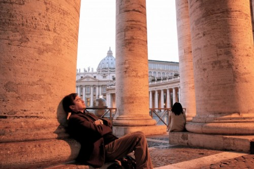 Roma - il riposo giustamente a colori, San Pietro