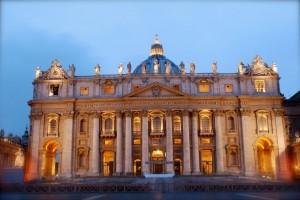 Facciata da vicino, Basilica di San Pietro