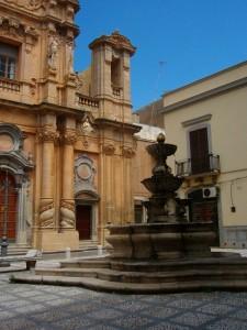 Chiesa e fontana