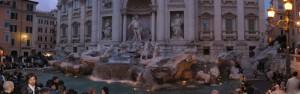 Fontana di trevi by night