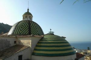 Copertura policroma delle cupole della chiesa di Santa Maria a Mare di Maiori