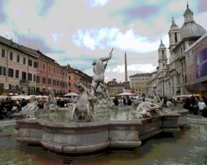 Fontana del Nettuno in P.za Navona