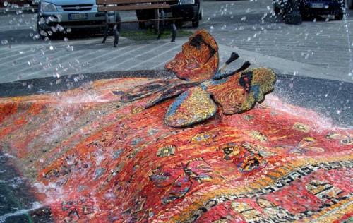Sogliano al Rubicone - la fontana delle farfalle